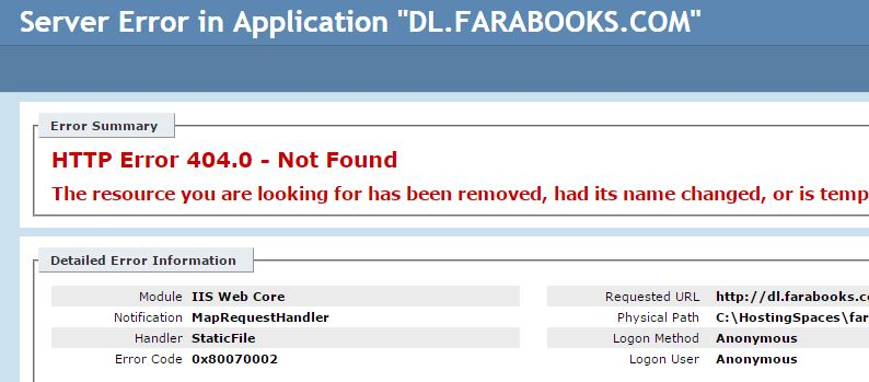 دانلود نشدن فایل های آپلود شده در هاست و http error
