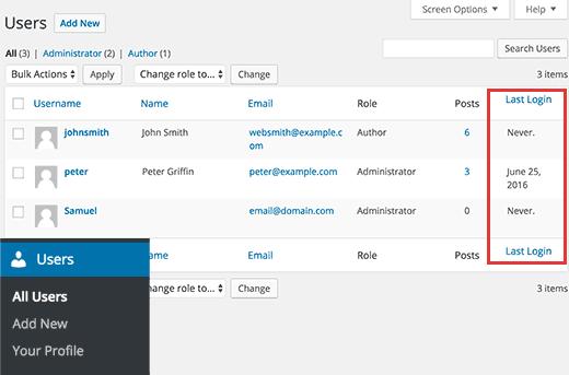 نمایش تاریخ آخرین ورود کاربر به سایت در وردپرس