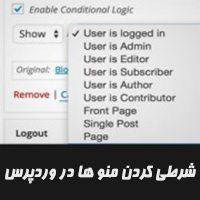 مدیریت نمایش منو های سایت وردپرسی برای اعضا سایت