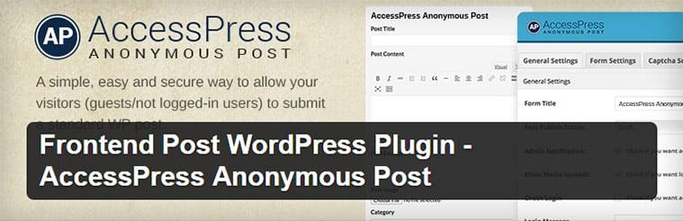افزونه AccessPress Anonymous Post