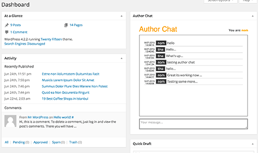 چت بین نویسندگان و مدیران در وردپرس با افزونه Author Chat