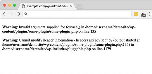 خطاهای فایل Pluggable.php در وردپرس