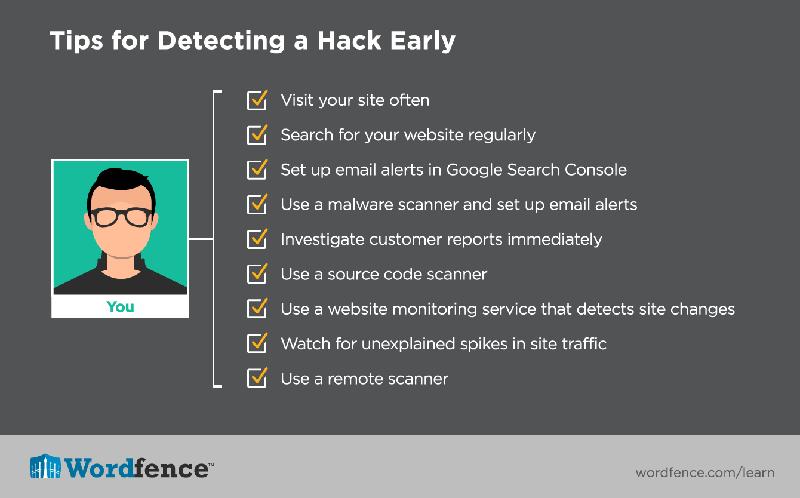 نشانه های هک شدن سایت وردپرسی