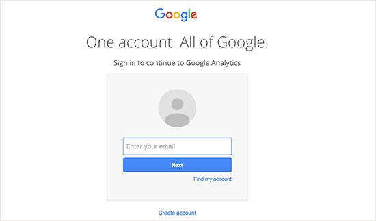 مراحل ثبت نام در گوگل آنالیتیکس