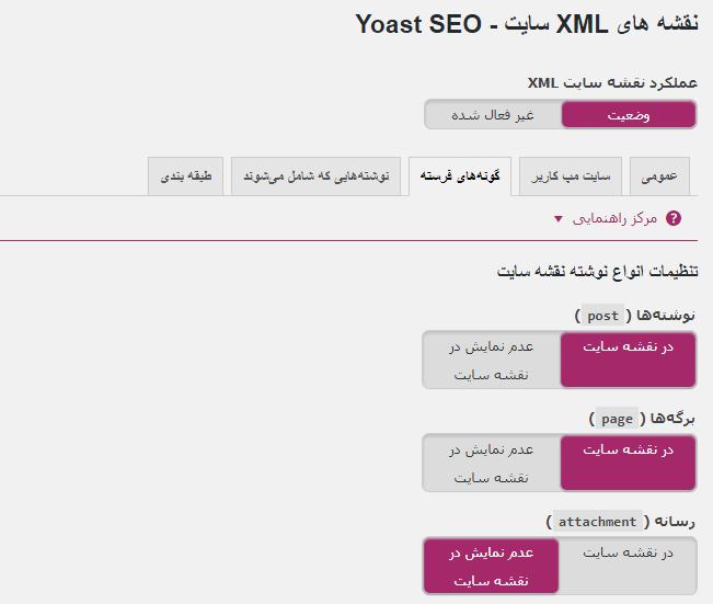 نقشه های XML سایت - Yoast SEO