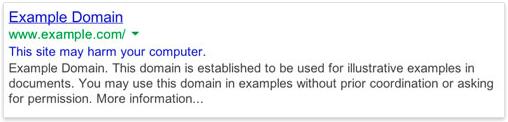 نتایج جستجوی گوگل نشان میدهد که سایت شما هک شده