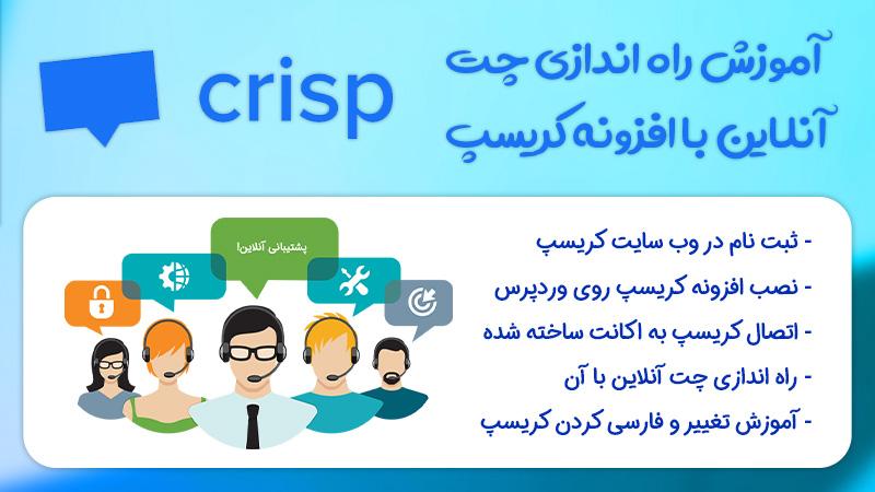 چت آنلاین با مشتریان و کاربران در وردپرس با افزونه Crisp