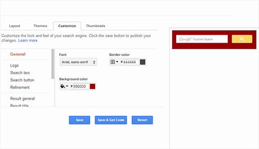 سفارشی سازی جستجو گوگل در وردپرس