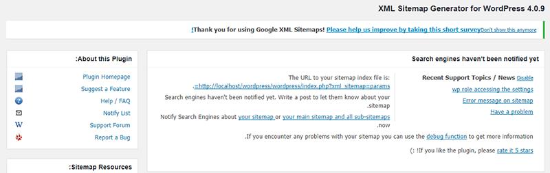 نصب افزونه Google XML Sitemaps