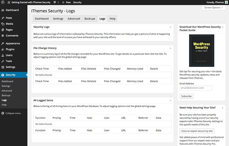 تنظیمات iThemes security
