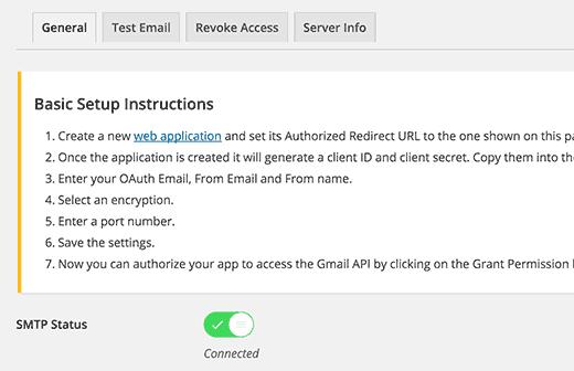 افزونه Gmail SMTP
