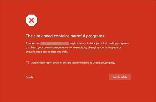 خطاThis Site Contains Harmful Program