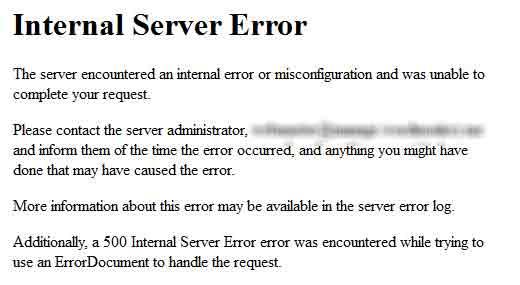 رفع خطا Internal Server Error در وردپرس