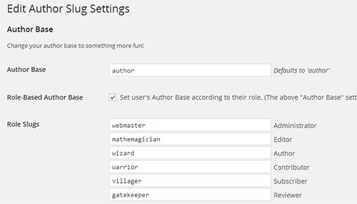 تغییر پایه آدرس نویسنده