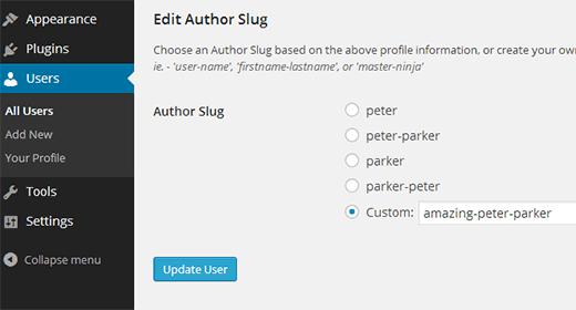 تغییر آدرس صفحه نویسنده در وردپرس