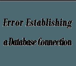 رفع خطا Error establishing a database connection - خطا ارتباط پایگاه داده وردپرس