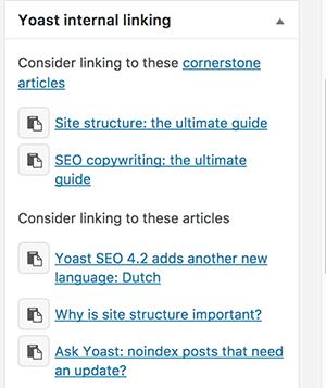 پیشنهاد لینک داخلی در نسخه پرمیوم Yoast