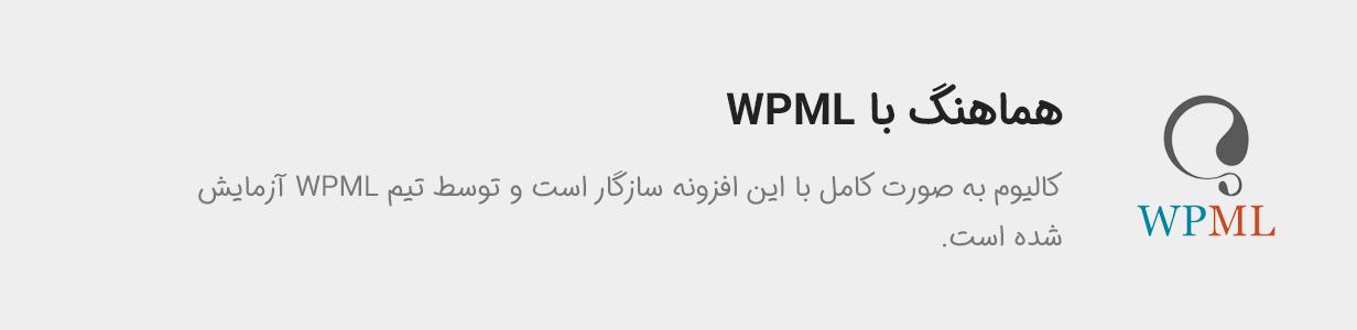 کالیوم هماهنگ با WPML