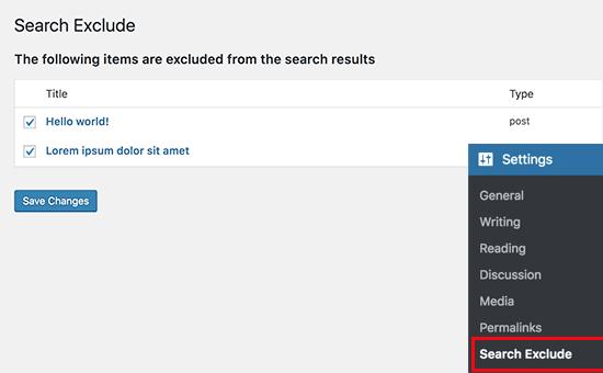 حذف صفحات خاص از نتایج جستجو وردپرس
