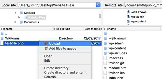 آپلود فایل با FTP