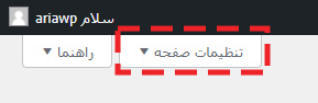 تنظیمات صفحه در همه نوشتهها در پیشخوان وردپرس