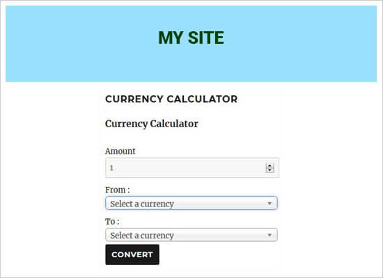 اضافه کردن مبدل ارز در وردپرس