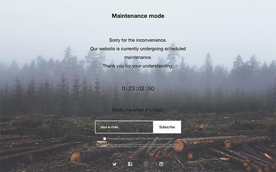 گذاشتن وبسایت وردپرسی روی حالت Maintenance Mode