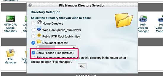 پیدا کردن فایل htaccess. در وردپرس