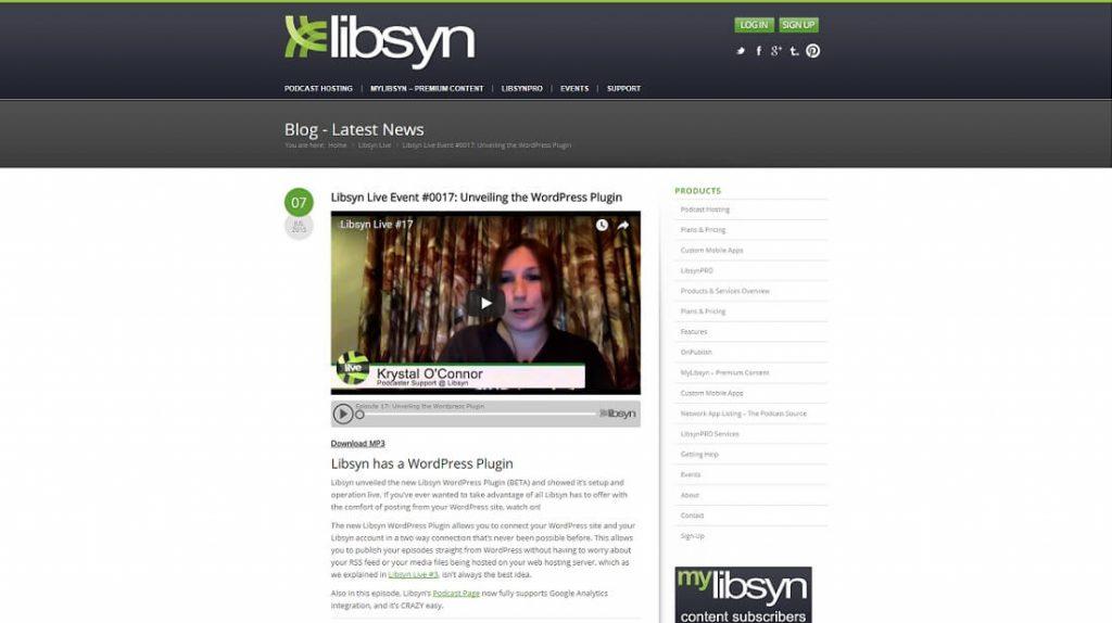 افزونه Libsyn Podcasting 10 افزونه پادکست