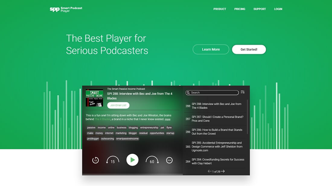 افزونه Smart Podcast Player