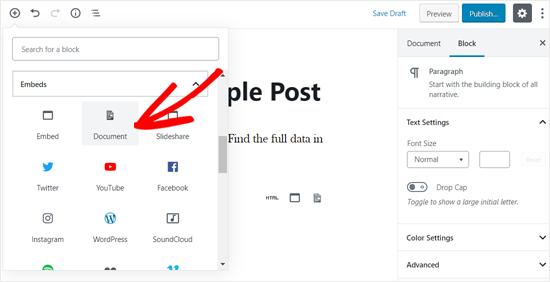افزودن فایل PDF و Word به نوشته در وردپرس