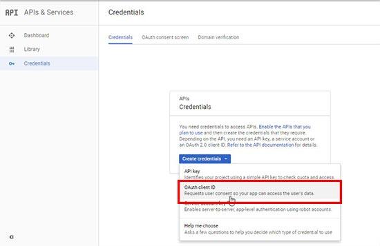 افزودن بخش ورود به سایت با اکانت گوگل