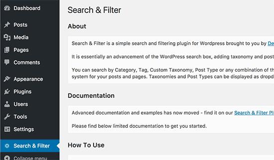 افزودن امکان فیلتر نوشته ها و صفحات به وردپرس
