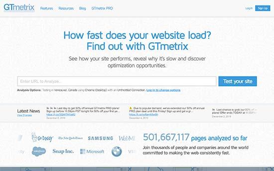 تست سرعت وبسایت وردپرس