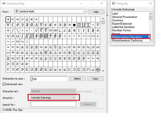 اضافه کردن کاراکترهای ریاضی یونیکد در سیستم عامل ویندوز