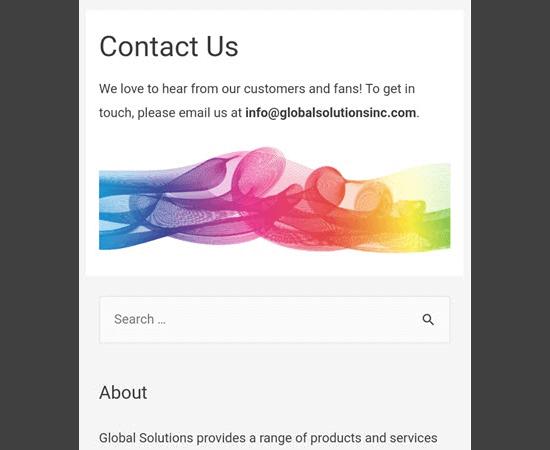 ابزارک جستجو در موبایل